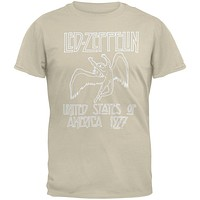 Led Zeppelin - 1977 Beige T-Shirt