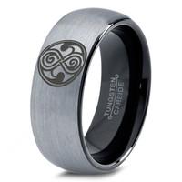 Dr Who Ring Doctor Time Lord Design Gallifrey Symbol Ring Mens Fanatic Geek Sci Fi Jewelry Boys Girl Womens Ring Fathers Day Gift Holiday Tungsten Carbide 297