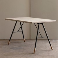 Tipped Writing Desk, reclaimed work desk, recycled furniture | Folklore