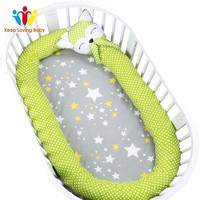Cotton Baby Crib Bumpers Pads Bedding Newborn Kids Bed Room Decoration Infant Protect Bed bumper knot pillow cushion Crib Bumper