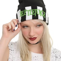 Beetlejuice Striped Cuff Beanie