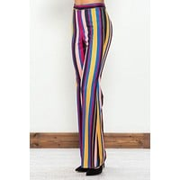 Striped Women's Pants - Rainbow