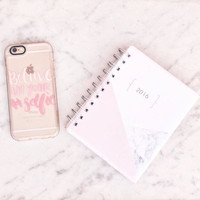 Quote iPhone 6s & 6s Plus Case (Believe in Your Selfie Pattern) by Casetify