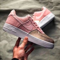 NIKE Air Force 1 QS GS AF1 Sakura Powder Trending Women Stylish Sport Shoes Running Sneakers