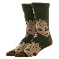 Guardians of the Galaxy Groot Crew Sock
