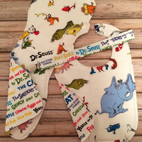 Dr Suess Bib, Burp Cloth and Pacifier Clip Set - (bib size infant-toddler) pacifier clip fits most pacifiers