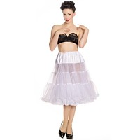 "Hell Bunny white Full Volume Petticoat 27"" Length"