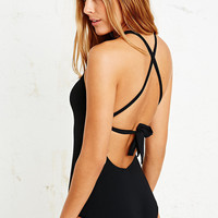 Seafolly Mod Club High Neck Swimsuit in Black - Urban Outfitters