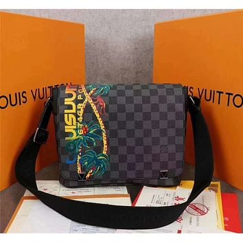 Louis Vuitton LV Women Leather Shoulder Bags Satchel Tote Bag Handbag Shopping bags 0422