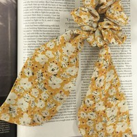 Sunshine Yellow Floral Scrunchie & Scarf