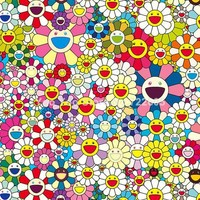 Murakami Takashi Art Sun flower / Skull Blanket Super Soft Fleece Blanket on the bed Sofa Blanket
