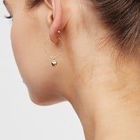 14k Vermeil Love Sleeper Hoops