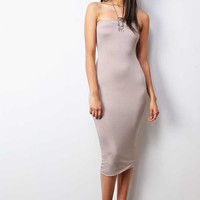 Slip On Midi Dress
