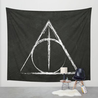 Deathly Hallows (Harry Potter) Wall Tapestry by Daizy Jain