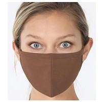 Keeping it in Style! Solid Mocha Face Mask with Filter Pocket