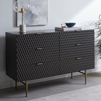 Audrey 6-Drawer Dresser - Charcoal