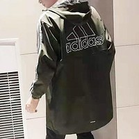Adidas Autumn Fashion Men Women Casual Hoodie Couple Cardigan Jacket Coat Windbreaker