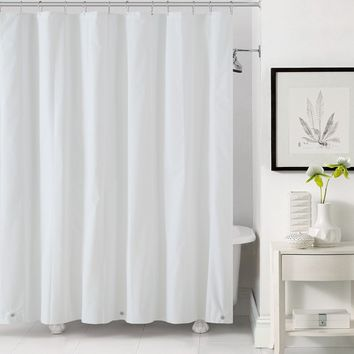 "Royal Bath Extra Heavy 10 Gauge White PEVA Non-Toxic Shower Curtain (72"" x 72"") with Magnets and Metal Grommets"