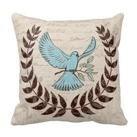 Blue Dove Artistic Pillow