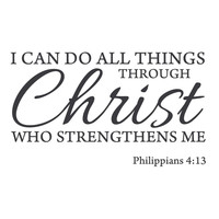 wall quotes wall decals - Christ Strength