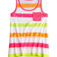 Striped Tank With Pocket | Girls Tanks Tops & Tees | Shop Justice