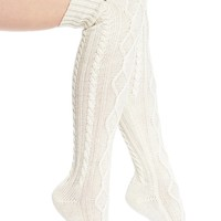 UGG® Australia 'Classic' Cable Knit Over the Knee Socks | Nordstrom