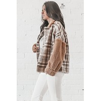 Wild Ride Wool Tan Plaid Jacket