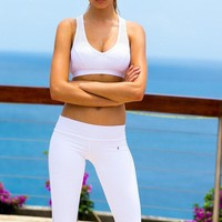 Sauvage Sport Pant Capri - Perforated | Classy Workout Pants