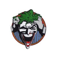 Joker Face Embroidered Iron-On Patch