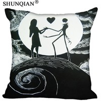 New Home pillow Cover The Nightmare Before Christmas Bestate 18x18 Inch Jack Skellington Pillowcase Zippered