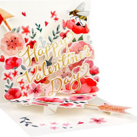 Floral Heart Popup Valentine Card