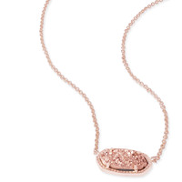 Kendra Scott - Elisa Necklace Rose Gold with Rose Gold Drusy