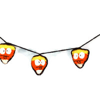 Silly Face Candy Corn Banner Halloween Decoration