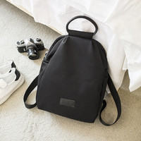 Black Vintage Womens Genuine Leather Backpack Travel Bag