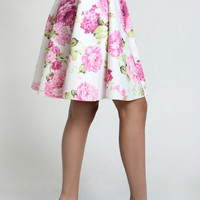 Floral Print Skirt (+ Colors)
