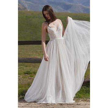 Willowby by Watters 53700 Harper Flowy A-Line Wedding Dress