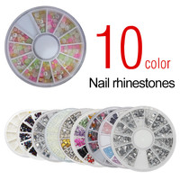 Saviland 1Pcs Nail Rhinestone Shiny DIY Nail Tools 3D Acrylic Art Decoration Rhinestones 10 Colors To Choose