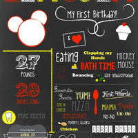 Custom Chalkboard Birthday Sign/Poster: Mickey Mouse Clubhouse theme by Little Party that Could