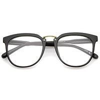 European Dapper Horned Rim Clear Lens Glasses A926