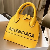 balenciaga Women Shopping Leather Tote Crossbody Satchel Shoulder Bag Yellow