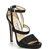 Jimmy Choo - Strappy Leather Platform Sandals - Saks Fifth Avenue Mobile