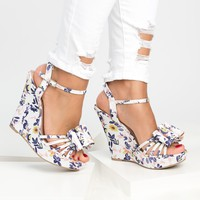 Bow Wedges Sandals