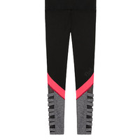 Ultimate High Waist Strappy Legging with Mesh - PINK - Victoria's Secret
