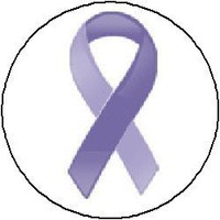 (Quantity 25) Periwinkle Blue Awareness Ribbon Pinback Buttons 1.25 Pins / Badges (Esophageal Cancer, Pulmonary hypertension , Eating disorder , Stomach cancer)