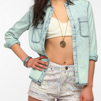 Urban Outfitters - BDG Acid-Washed Button-Down Chambray Shirt
