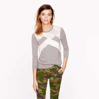 Collection cashmere abstract argyle sweater - j.crew cashmere - Women's sweaters - J.Crew