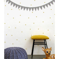 Gold dots wall decals, wall stickers, wall decor
