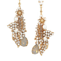Bijoux Heart | Script 24-karat gold-plated Swarovski crystal earrings | NET-A-PORTER.COM