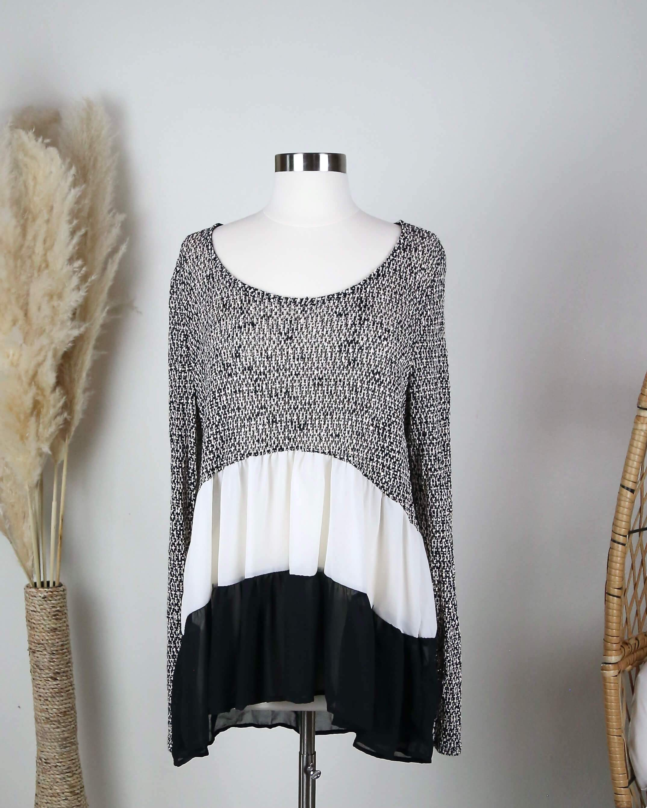 Image of Final Sale - Ruffle Me Up Lightweight Sweater Tunic in More Colors