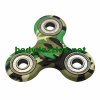 Green Camo Finger Fidget ADHD ADD Autism Anxiety Focus Finger Fidget Hand Spinner Finger Spinner  Hot Kids Toys Great Gift
